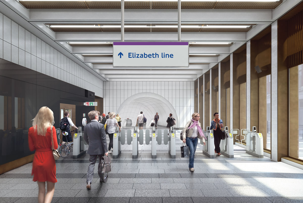02 Bond Street station - proposed ticket hall on Hanover Square_235994