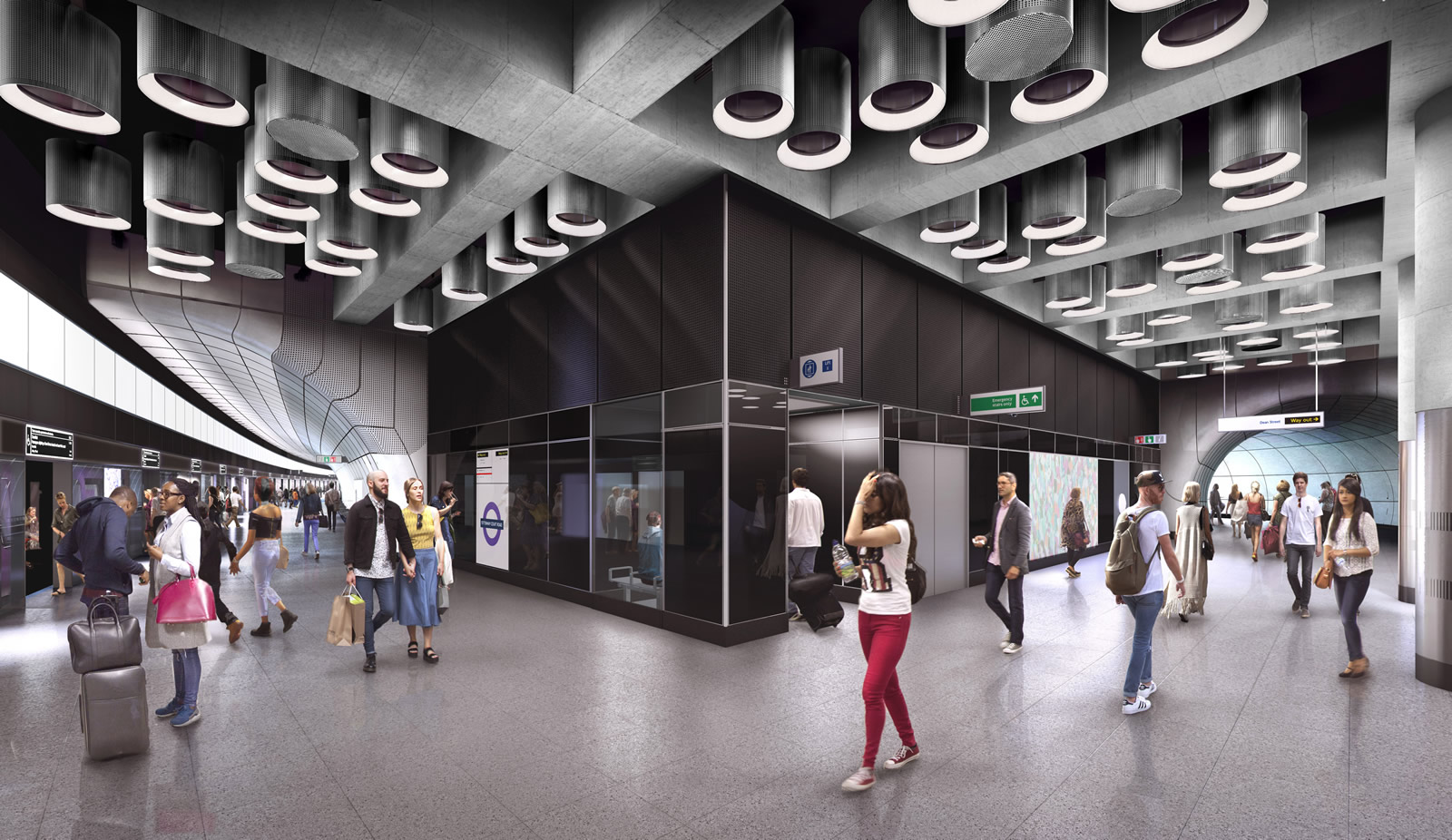 03 Tottenham Court Road station - proposed platform level at Dean Street entrance_236020