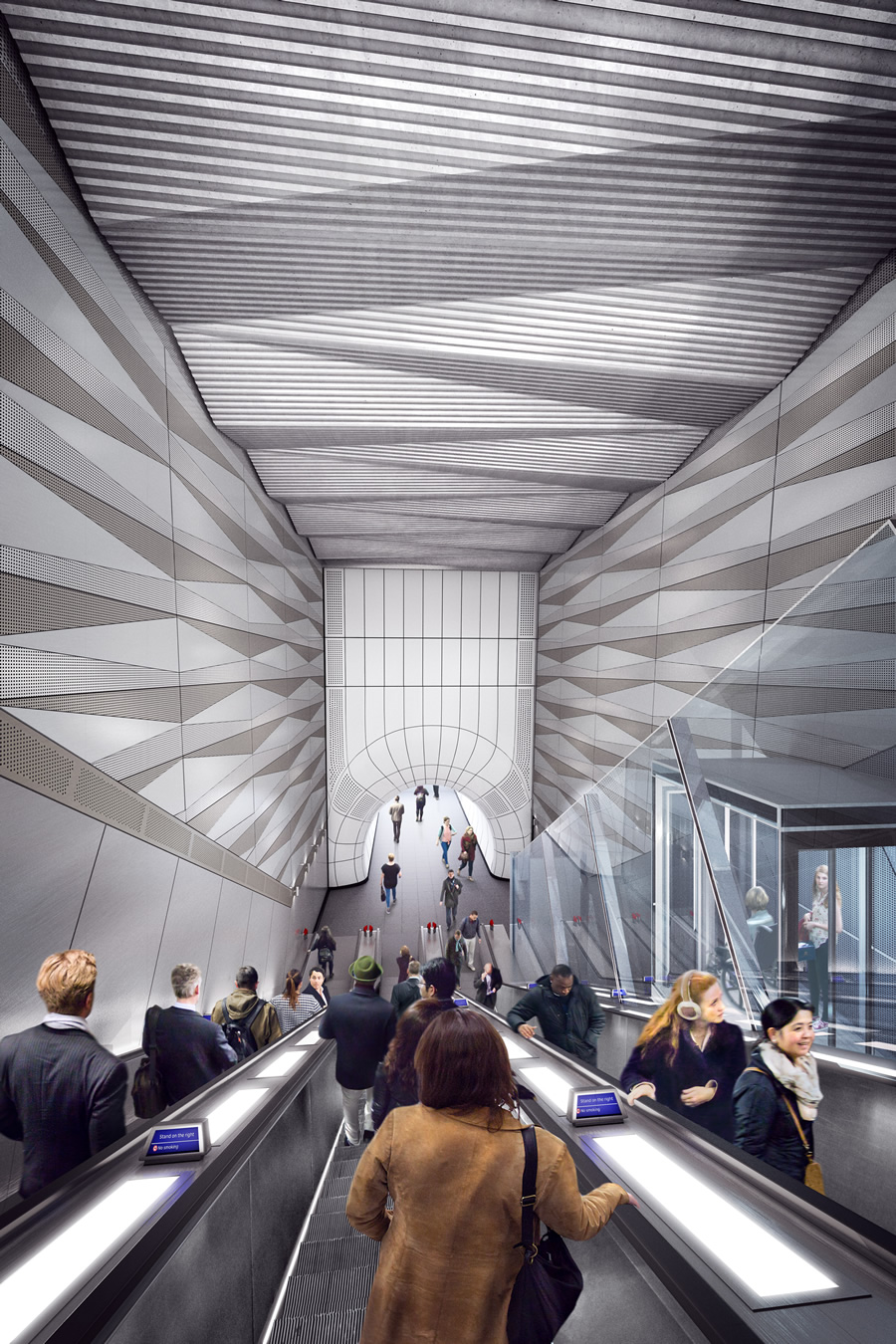 05 Liverpool Street station - proposed upper escalator with inclined lift from Broadgate ticket hall_236013