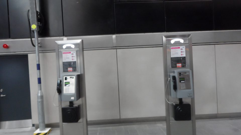 A couple of payphones