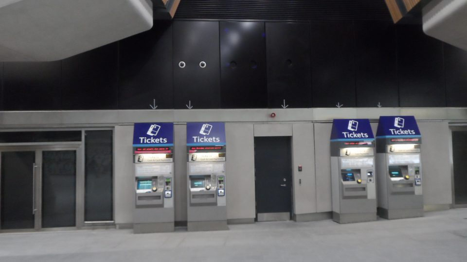 A paucity of ticket machines