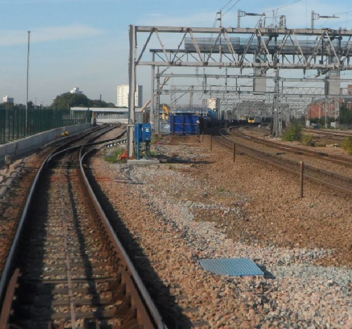 Approach to Pudding Mill Lane and Crossrail Portal