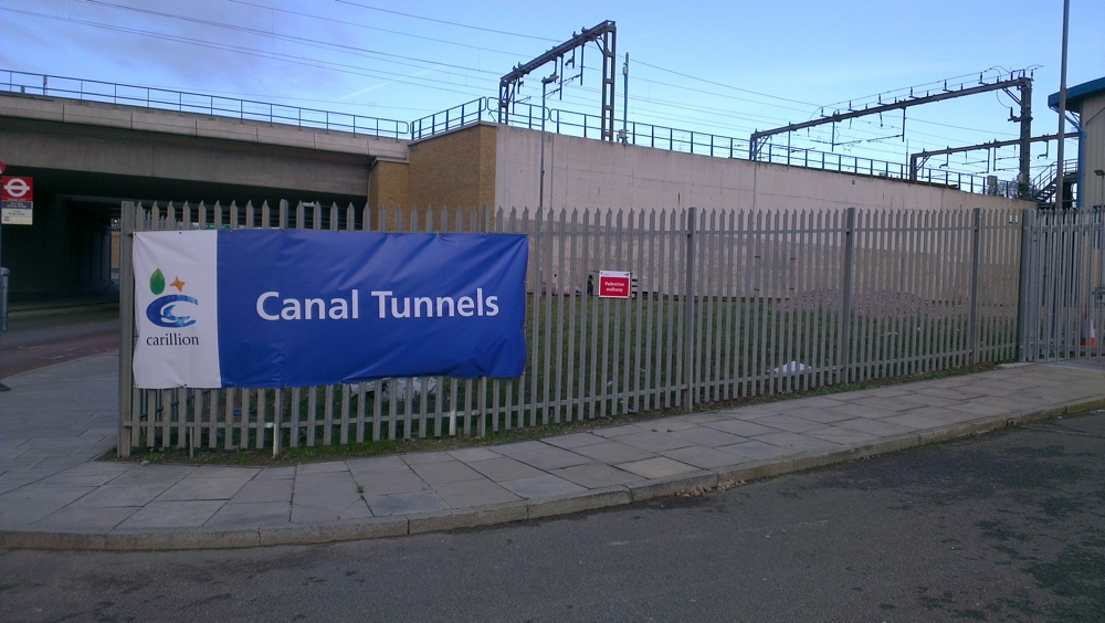 Canal Tunnels worksite on York Way