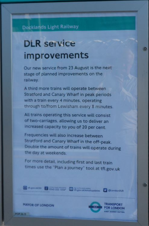 DLR improved service announcement