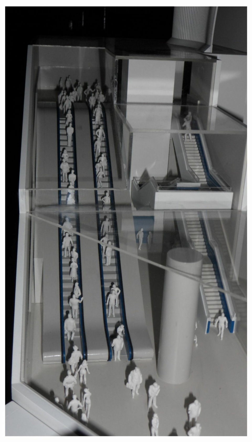 Details of stairs, lift and escalators resized