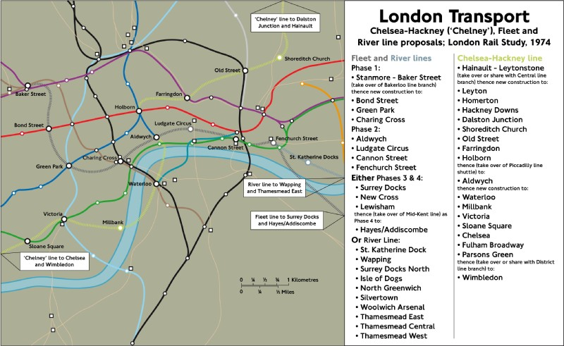 Fleet River & Chelney Lines Map[Ben's]