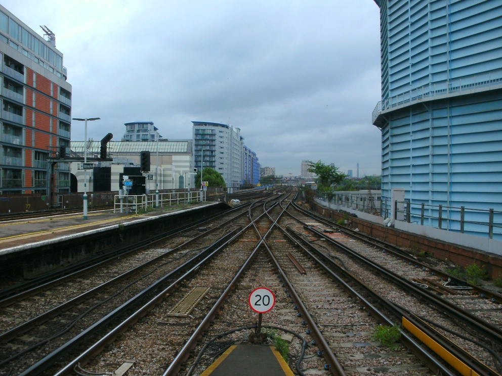 Gasholder from platforms 2 and 3