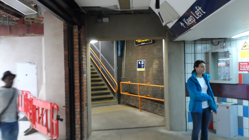 New platform 17 entrance from the passageway