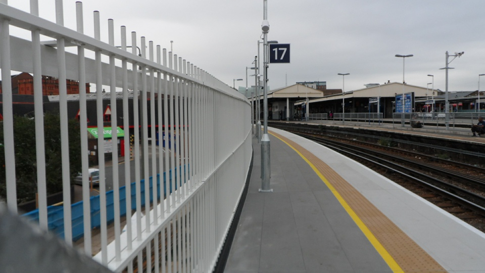 Newly extended platform 17