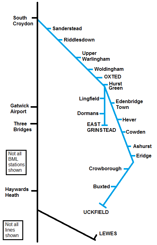 A Study In Sussex Part 11: Diverted to the Oxted Lines - London