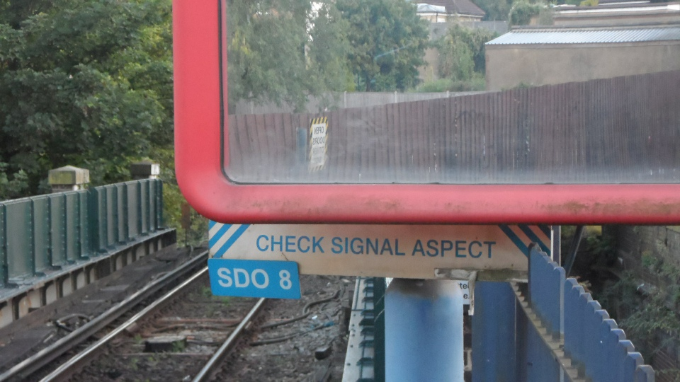 Platform mirror with SDO notice