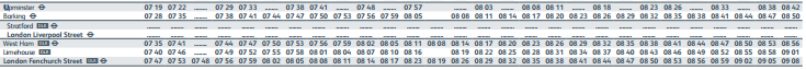 Proposed Morning timetable