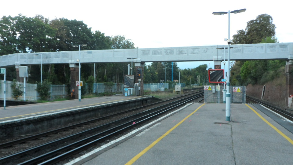 Public footbridge at north end of platforms