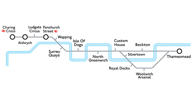 River Line strip map Londonist