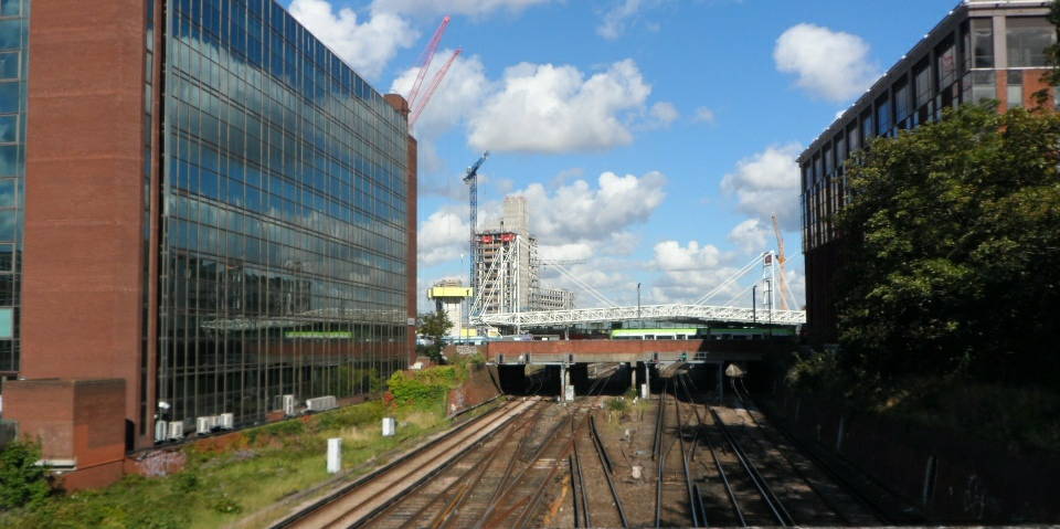 The approach to East Croydon from the south cropped