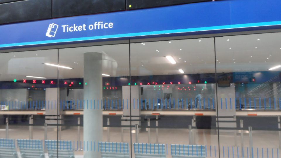 Ticket office with no-one being served