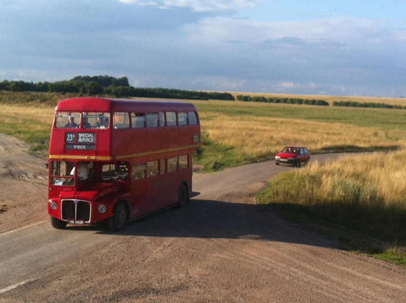 Bath Bus Co RML2665 outside Imber
