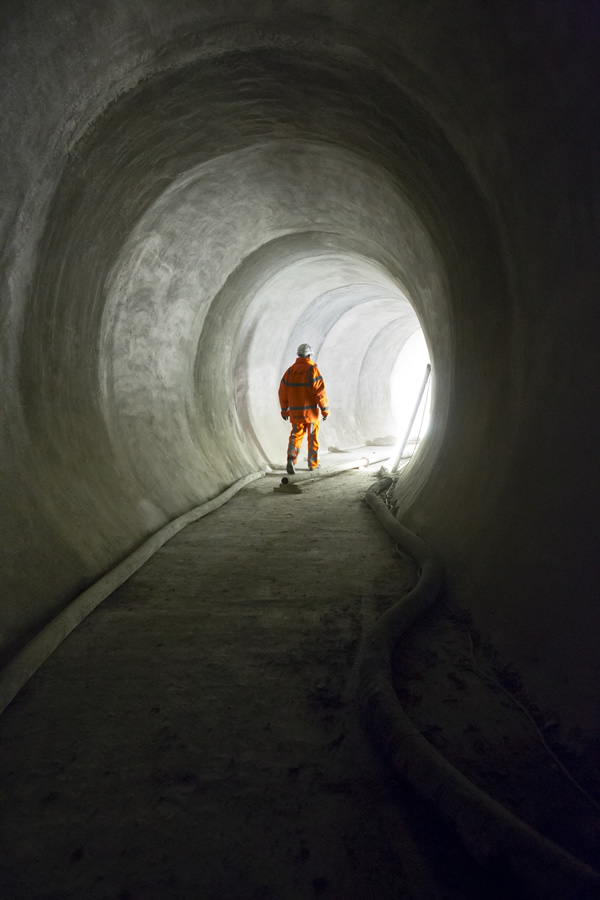 Working on cable tunnels at Liverpool Street