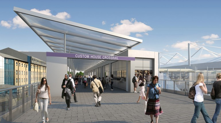 custom house station architects impression - entrance barriers_127365