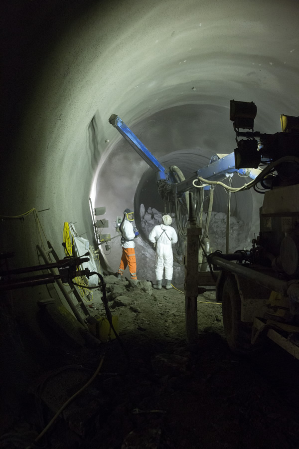 Working on Liverpool Street station tunnels at Finsbury Circus