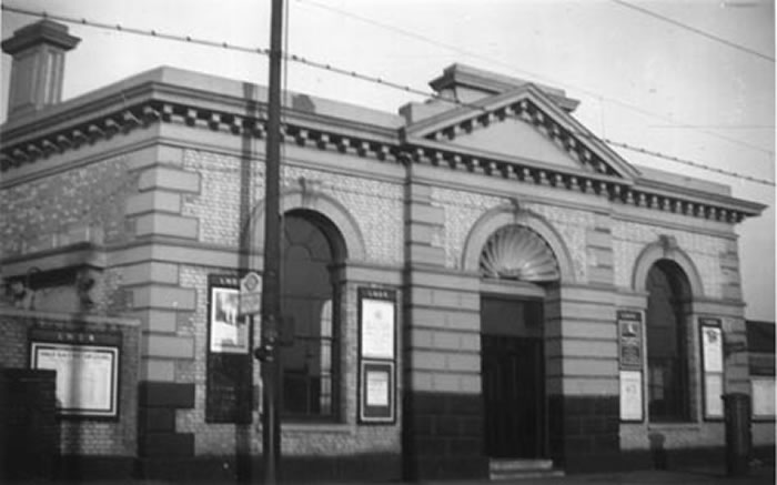 The station building in 1940