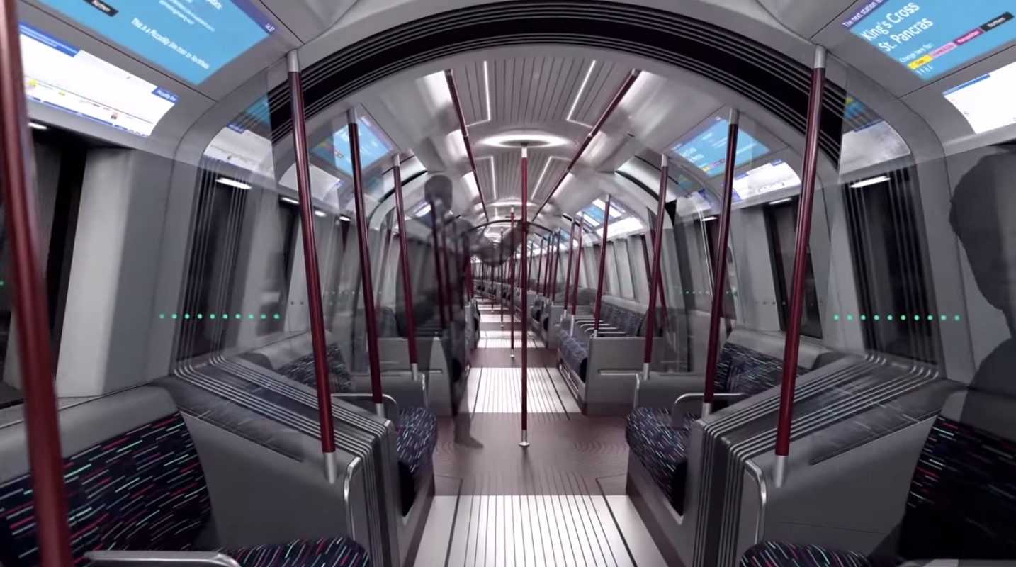 The new tube for london the driverless train with a driver for Interior design south london