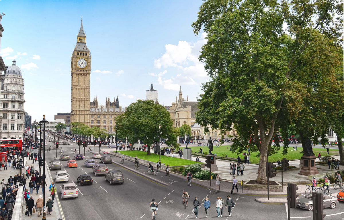 Mock Up of Parliament Square