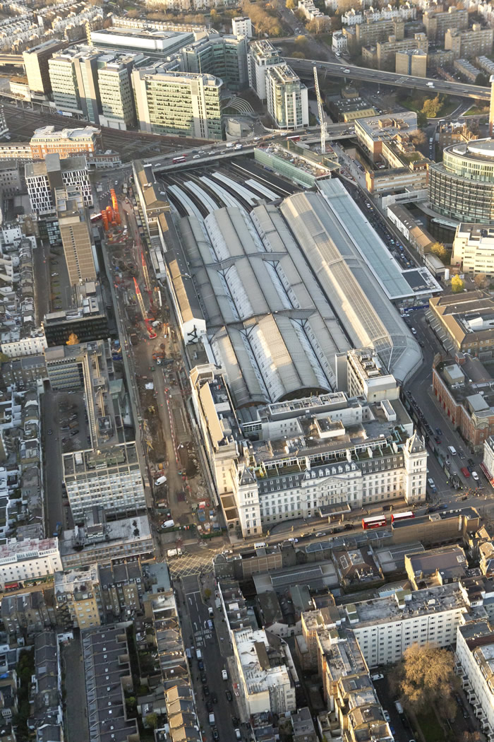 Paddington Station from the air