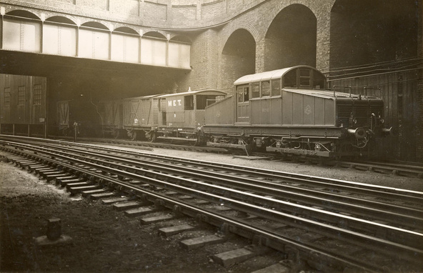 Vine St depot c1910, photo courtesy of London Transport Museum