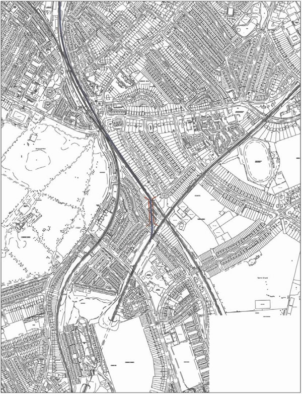 Proposed flyover south of Herne Hill
