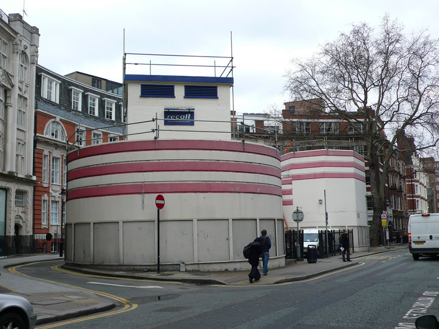 Goodge Street (East Entrance) during repainting