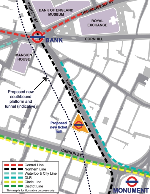 TfL Map of new Tunnel