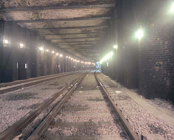 Thameslink north of Snow Hill in 1986