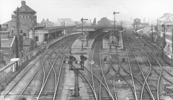 The south junctions looking north, circa 1900