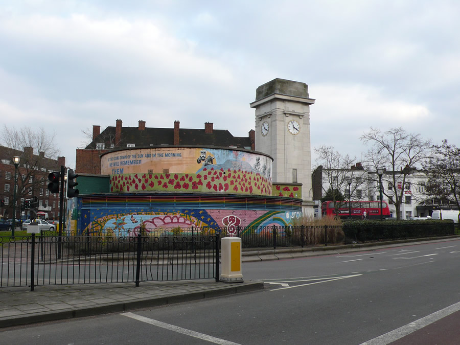 Stockwell (NorthEntrance) is now a war memorial
