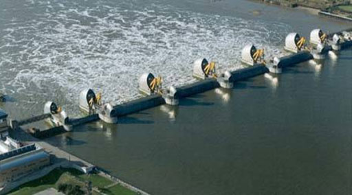 The Thames Barrier, via Halcrow