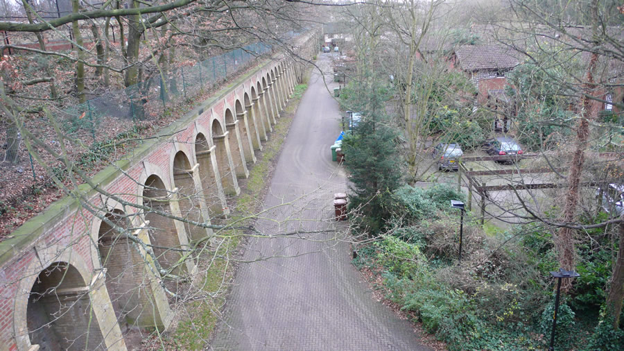 The view from above Paxton Tunnel south portal, looking towards the station site