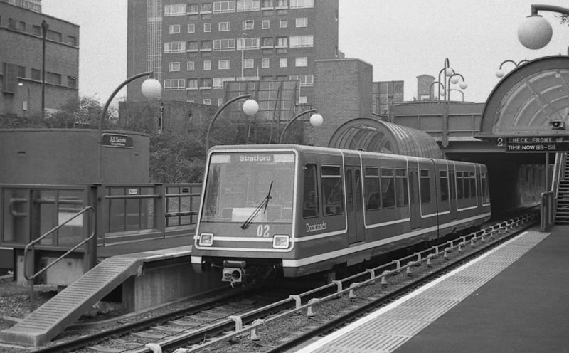 The DLR at All Saints in 1987