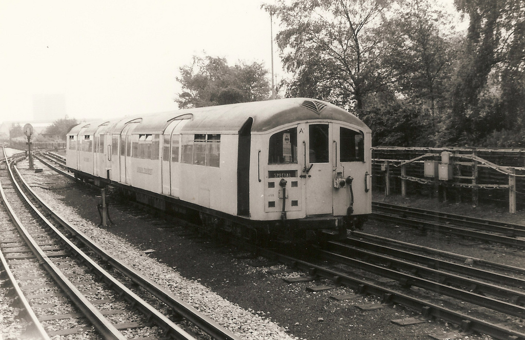 Experimental Articulated 35 Stock at Acton, August 1971