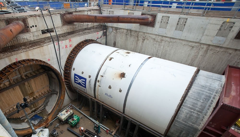 The TBM in position