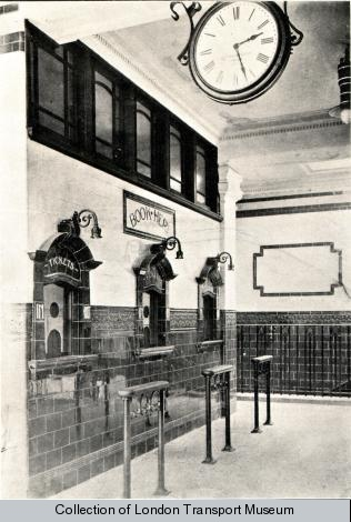 The brass clocks found throughout Green's stations were self-winding and cost the princely sum of £4 each