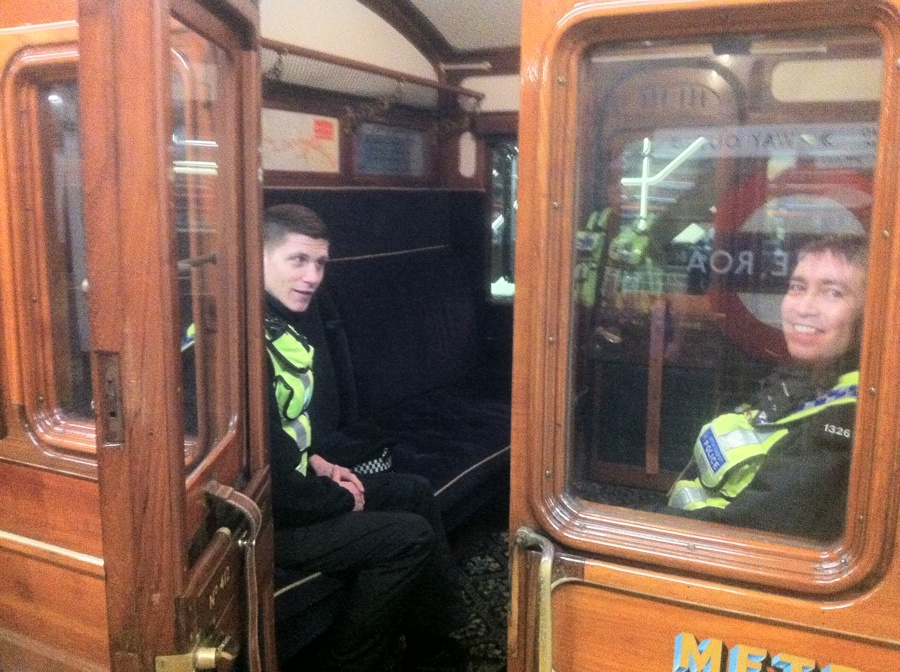 The BTP travelling in style