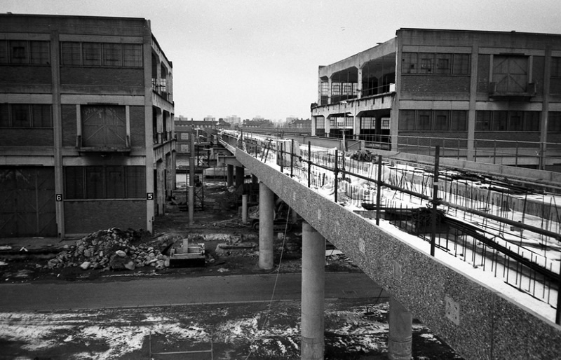 The site of Canary Wharf station (or thereabouts) in 1985