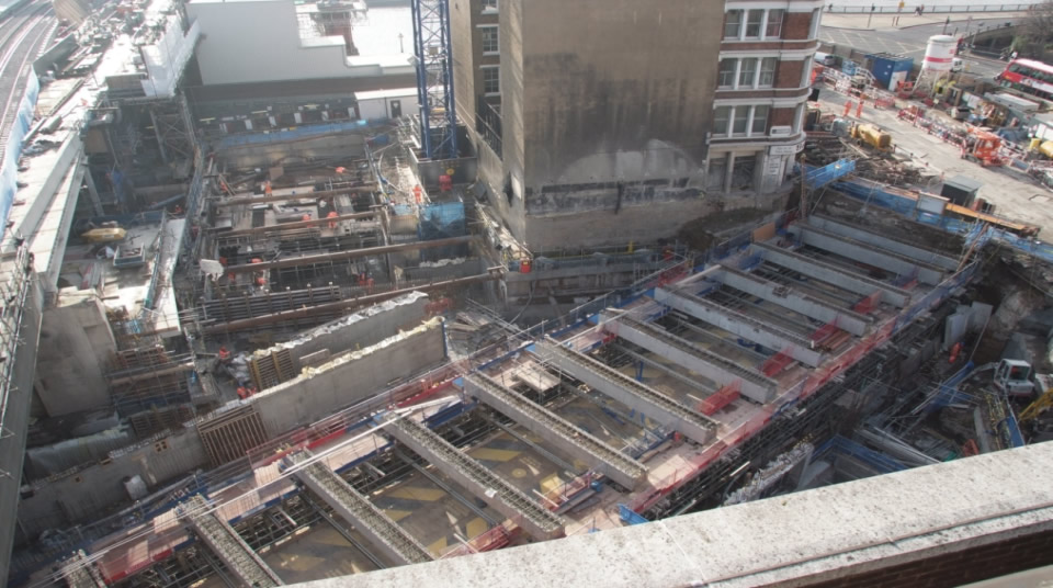 The supporting structure takes shape