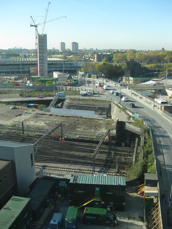Construction is still underway on the wider Kings Cross site