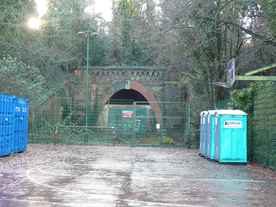 Paxton, north portal (with portaloos)