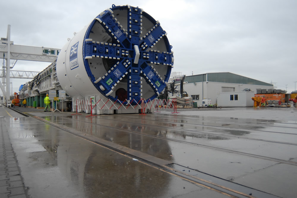 The TBM from the front