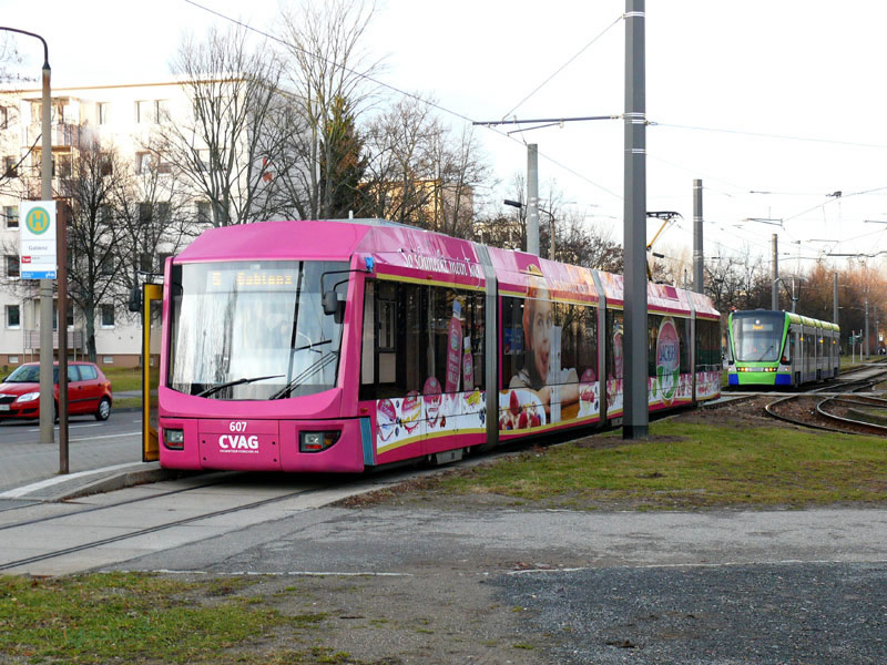 Following a Chemnitz Tram, courtesy Volker Dornheim