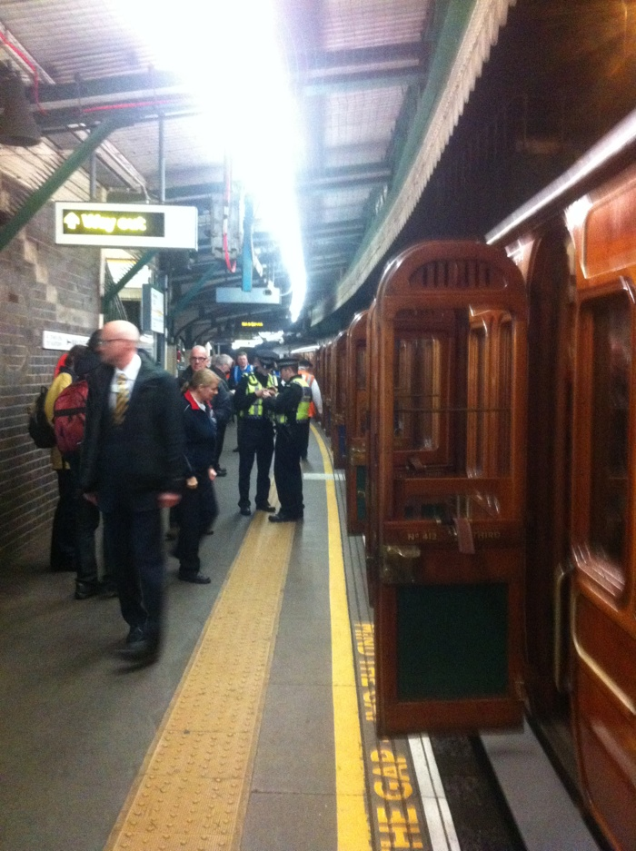 Looking down the platform at Edgware Road
