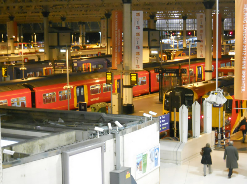 The height affords an excellent view across the platforms